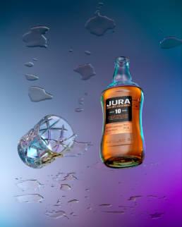Jura 10 year old single malt whisky with tumbler