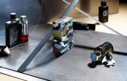 Armani, Jimmy Choo fragrance perfume editorial