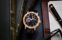 Graff diamonds gentlemans' tourbillon watch with graff fountain pen and spectacles